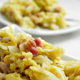 Sauteed cabbage with bacon Stock Photos