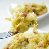 Sauteed cabbage with bacon Stock Image
