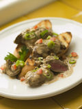 Sauteed Chicken Livers in a Sherry Sauce Stock Photography