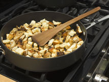 Sauteed croutons Royalty Free Stock Photo