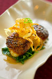 Sauteed Diver Scallops Appetizer Royalty Free Stock Image