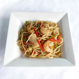 Sauteed japanese noodles combination in black pepper sauce Royalty Free Stock Images