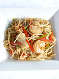 Sauteed japanese noodles combination in black pepper sauce Stock Images
