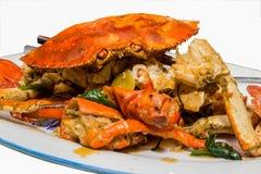 Sauteed krabba royaltyfria foton