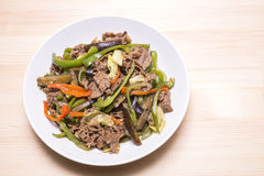 Sauteed meat and vegetables Royalty Free Stock Images