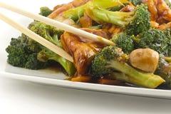 Sauteed mengde Chinese Groenten met Tofu royalty-vrije stock foto's