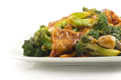 Sauteed Mixed Chinese Vegetables with Tofu Royalty Free Stock Images