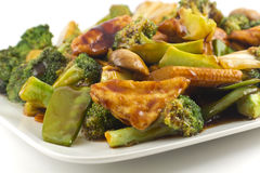 Sauteed Mixed Chinese Vegetables with Tofu Stock Photography