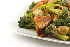 Sauteed Mixed Chinese Vegetables with Tofu Royalty Free Stock Photo