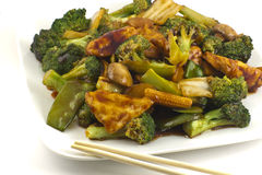Sauteed Mixed Chinese Vegetables with Tofu Stock Photos