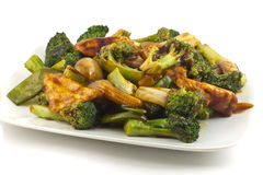 Sauteed Mixed Chinese Vegetables with Tofu Stock Image