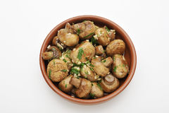 Sauteed mushrooms Stock Photography
