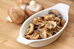 Sauteed mushrooms Stock Photos