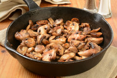 Sauteed mushrooms Stock Photo