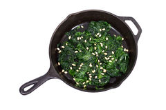 Sauteed organic spinach royalty free stock photography