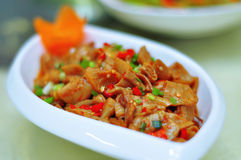 Sauteed Pig's INtestines. A Chinese homely dishes, Sauteed Pig's INtestines Stock Image