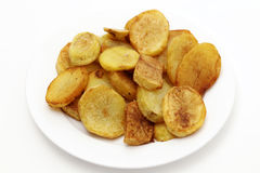 Sauteed potatoes high angle Stock Images
