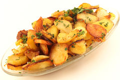 Sauteed potatoes with parsley Stock Photo