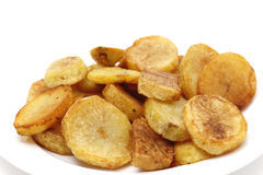 Sauteed potatoes side view Royalty Free Stock Photos