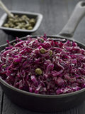 Sauteed Red Cabbage. With Capers Stock Images