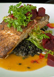 Sauteed salmon Stock Photo