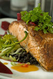 Sauteed salmon Stock Photos