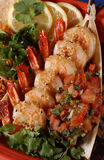 Sauteed Shrimp Royalty Free Stock Images