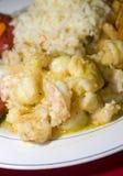Sauteed shrimp nicaragua style Stock Photo
