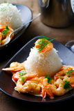 Sauteed Shrimp in White Wine Royalty Free Stock Photo