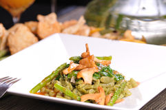 Sauteed Spinach Spelt Spaetzle Royalty Free Stock Image