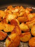 Sauteerde aardappels Royalty-vrije Stock Afbeeldingen