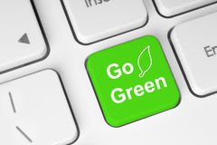 Sautent le bouton vert Photos libres de droits