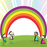 Sauter d'enfants illustration stock