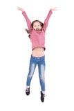 Sauter de fille photo libre de droits