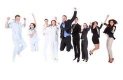 Sauter de médecins et de directeurs images stock