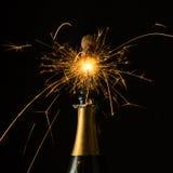 Sauter de scintillement de champagne Photographie stock libre de droits