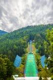 Sauter de ski Image stock