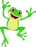 Sauter heureux de bande dessinée de grenouille illustration libre de droits