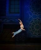"""Sauter les génies du  de Nights†de l'""""One mille et un de ballet de lampe Photo libre de droits"""