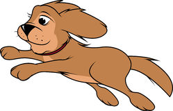 Sauter pelucheux de chien illustration libre de droits