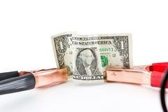 Sautez le début le dollar américain Images libres de droits