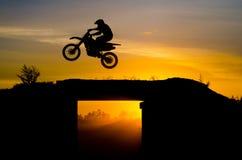 Sautez sur la course transnationale Photographie stock libre de droits