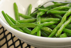 Sautierte grüne Bohnen Lizenzfreie Stockfotos