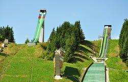 Sauts à skis, Slovaquie, l'Europe Photographie stock libre de droits