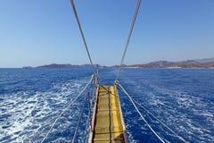 Sauts en mer Image libre de droits