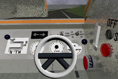 Sauvasaver dashboard front panel Royalty Free Stock Photography