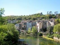 Sauve est une petite ville dans le département du Gard dans des Frances du sud photos libres de droits