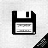 Sauvegarde des données de disque souple - illustration de vecteur - d'isolement sur le fond transparent illustration libre de droits
