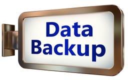 Sauvegarde des données sur le fond de panneau d'affichage illustration de vecteur