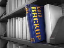 Sauvegarde des données - titre de livre photo libre de droits